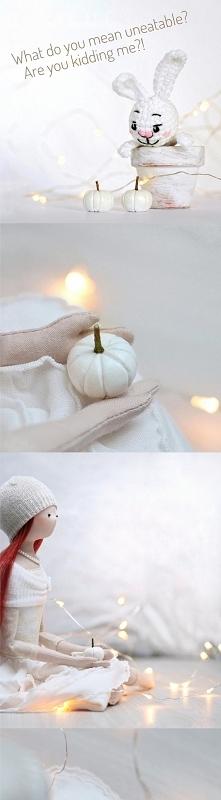 biała dynia rękodzieło