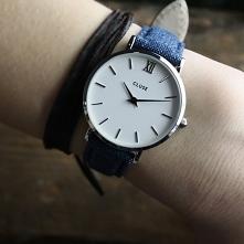Zegarek Cluse na pasku ze skóry naturalnej to niezwykle wyjątkowy model! Dlaczego? Ponieważ pasek przybrał motyw jeansu! Tego jeszcze nie było!