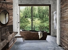River stone bathtub for sale - freestanding stone bathtubs Freestanding stone bathtub - River stone tub in hotel bathroom. See our full collection of natural stone products. The...