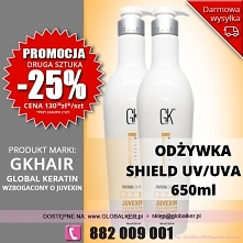 Global Keratin GK Hair odżywka color shield UV/UVA 650ml conditioner - sklep ...
