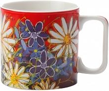 Maxwell & Williams Kubek Art Love Life Biały Kwiat 350 Ml, Czerwony