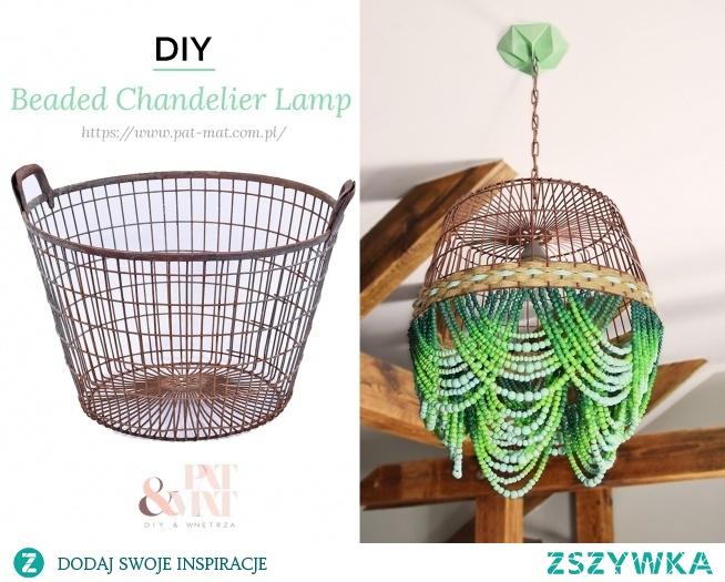DIY Beaded Chandelier Lamp tutorial LINK W MOIM BIO