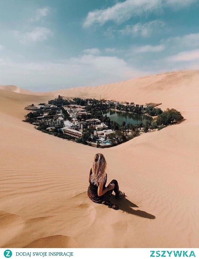 Cudowne miejsce, miasto na środku pustyni w Peru