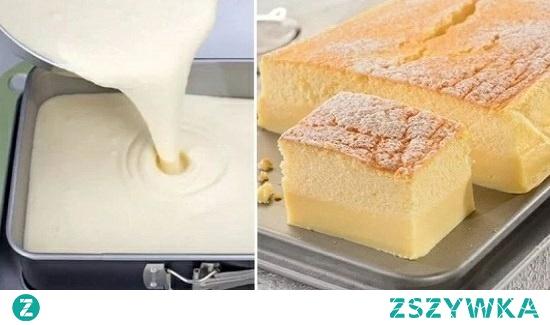 To ciasto jest genialne, samo dzieli się na dwie warstwy, a zapach unoszący się przy pieczeniu sprawia, że nie w sposób przejść obojętnie.  Potrzebujesz:  150 g mąki 150 g margaryny 150 g cukru pudru 2 łyżeczki cukru waniliowego 5 jajek 1 cytrynę 600 ml mleka cukru pudru do posypania  Przygotowanie: Stop margarynę, a następie wystudź. Rozdziel żółtka od białek. Do żółtek dodaj cukier waniliowy i zmiksuj. Następnie dodaj margarynę i cukier puder. Wymieszaj do uzyskania gładkiej masy. Teraz dodaj mleko. Na koniec ostrożnie wsypuj przesianą mąkę.  Białka ubij na sztywna pianę, dodaj sok z cytryny i można według uznania dodać skórkę z cytryny startą na tarce.  Teraz połącz masy stopniowo dodając białka do żółtek. Przełóż całość do formy (składniki zmieszczą się idealnie w formie 17×27 cm). Pieczemy 45 minut w 160 stopniach. Po ostygnięciu wstawiamy do lodówki na kilka godzin. W ten sposób ciasto samo rozdzieli się na dwie warstwy.