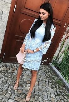 Koronkowa, błękitna sukienka Illuminate <3 Idealna stylizacja na chrzciny <3