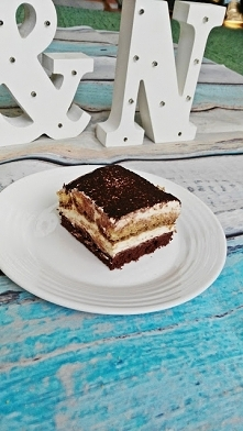 Ciasto tiramisu z dodatkiem amaretto - poleca się na weekend ;)