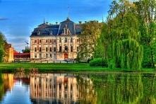 Zdjęcie Pałacu w Pszczynie, piękny widok :) Puzzle z tym pięknym miejscem na ...