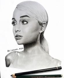 Rysunek Ariany Grande :) Zapraszam na mój instagram, mam nadzieję, że się pod...