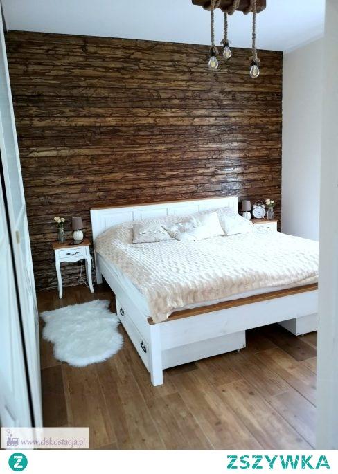 Sypialnia pełna drewna i projektów DIY - było tutaj sporo pracy, ale teraz to moja oaza.