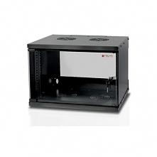 Techly Szafka wisząca ECO 19cali 6U/450mm szklane drzwi zmontowana czarna DAR...