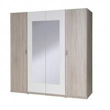San szafa 4-drzwiowa 193cm Dąb Sonoma/Biały Alpejski 20