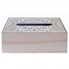 Chustecznik drewniany w ażurowe wzory