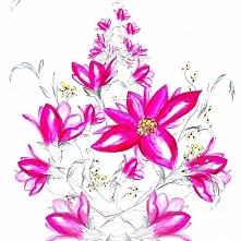 Różowa kaskada kwiatów