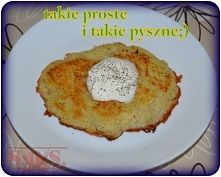 Placki ziemniaczane - ziemniaki + jajko + łyżka mąki i... tani sycący obiad gotowy;D