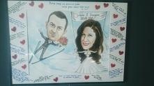 Karykatura. Taki prezent na wesele. Ktoś by się odważył?
