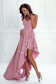 Suknia wieczorowa z asymetr...