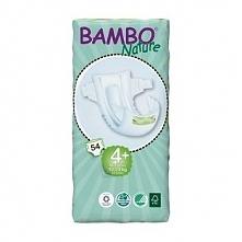 Pieluszki Bambo Nature r.4+MAXI 10-20kg 54szt.