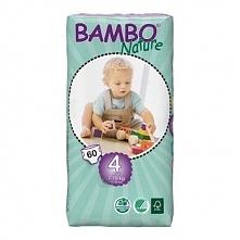 Pieluszki Bambo Nature r.4 MAXI 7-18kg 120szt. (2x60)