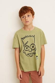 Mango Kids - T-shirt dziecięcy Simpson 104-164 cm