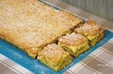 Przepyszny rabarbarowiec        rabarbar - ok. 2 kg     4 łyżki cukru     1 cukier waniliowy  Ciasto:      1 masło      5 żółtek     3 łyżeczki proszku do pieczenia     3 łyżki ...