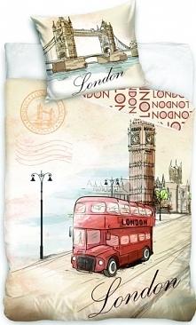 Jerry Fabrics Pościel London Bus 140X200 70X90