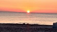 Jastarnia zachód słońca