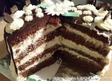 tort wuzetka-drip cake        *przepis na małą tortownicę około 18cm średnicy...