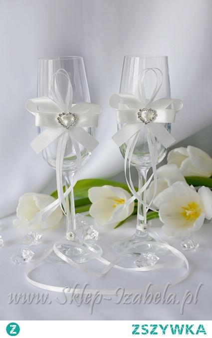 Kieliszki dla Młodej Pary na ślub i wesele