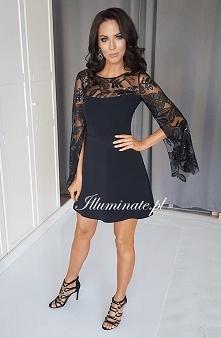Czarna sukienka- nowość w k...