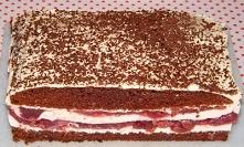 Kakaowe ciasto z masą śmietanowo-galaretkową
