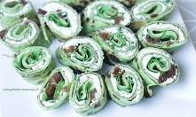 zielone rollsy idealne na śniadanie lunch do pracy  Przepis po kliknięciu w zdjęcie