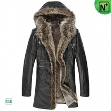 Christmas Gifts | CWMALLS® Chicago Men 2 in 1 Hooded Shearling Fur Coat CW877...
