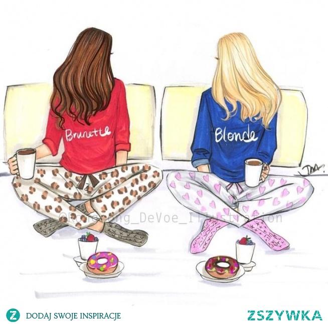 Szczera prawda,że każda brunetka ma przyjaciółkę blondynkę :D