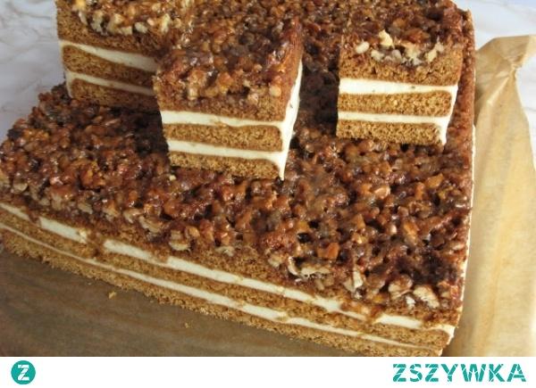 Orzechowiec - przepis podstawowy, ładnie się kroi i nie rozpada się na talerzu, idealny dla wielbicieli ciast z orzechami i nie tylko