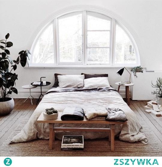 sypialnia delikatnie rustykalna