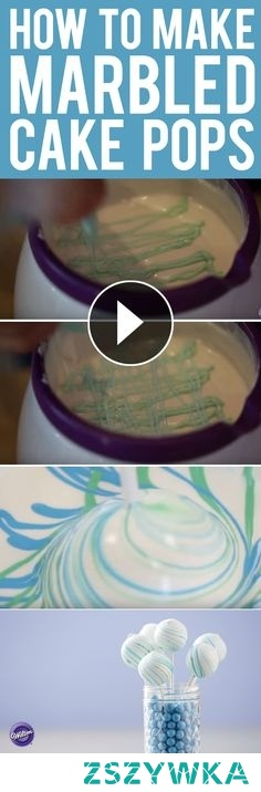 Jak zrobić marmurkowe cake popsy