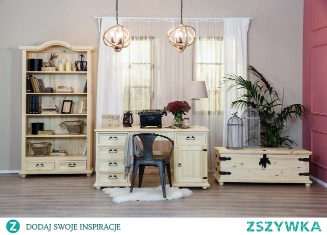 stylowe meble woskowane z litego drewna idealne do biura, gabinetu lub dla nastolatka