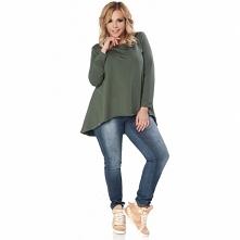 Asymetryczna tunika bardzo modna w tym sezonie Justa z przedłużonym tyłem już dostępna! S (36) M (38) L (40) XL (42) XXL (44) XXXL (46)