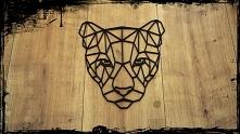 Puma. Geometryczne zwięrzęta, dekoracja do domu. Nowoczesny design. Pasuje do...