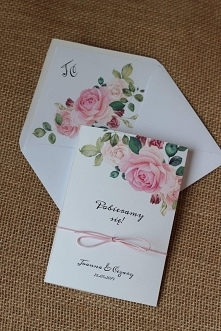 zaproszenia ślubne z kwiatami w rustykalnym stylu