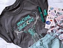 Koszulka IMAGINE DRAGONS - koszulka z nadrukiem IMAGINE DRAGONS dla fanów zespołu. Oficlana licencjonowana bluzka koncertowa. imagine dragons, koszulka imagine dragons, imagine ...