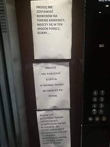 Proszę nie naklejac kartek.
