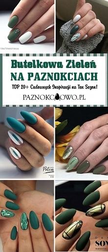 Butelkowa Zieleń na Paznokciach: TOP 20+ Cudownych Inspiracji na Ten Sezon!