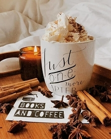 Gorąca kawa z cynamonem na dzisiejszą pogodę ...