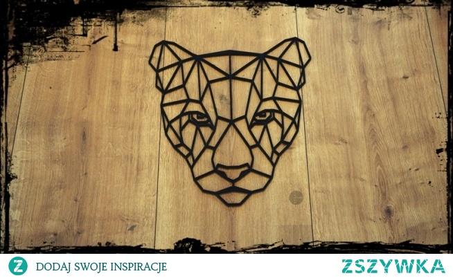 Puma. Geometryczne zwięrzęta, dekoracja do domu. Nowoczesny design. Pasuje do wielu wnętrz. Zajrzyj na naszego Facebooka i Instagram ;) Laser Story