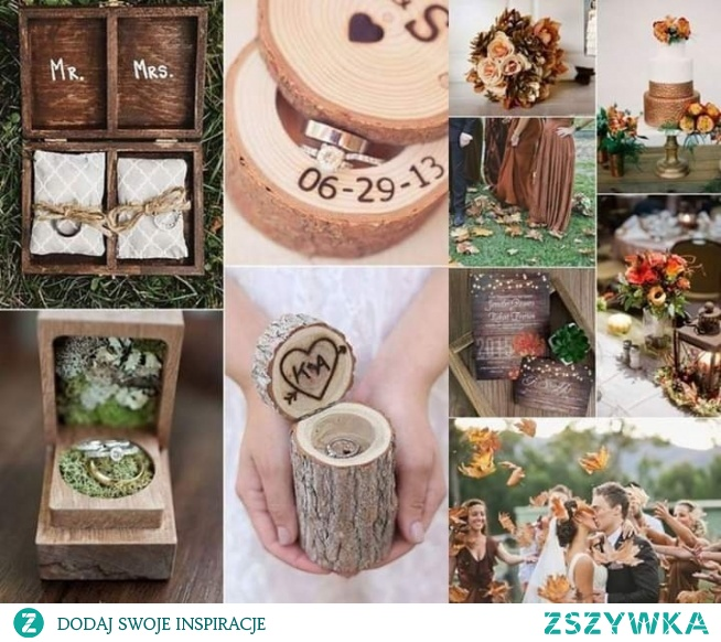 Drewno i brąz to idealny duet na jesień