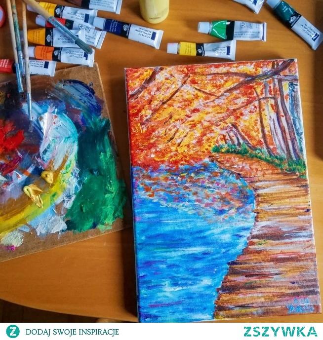 sposób na jesienna nudę, czyli jesienne malowanie :) aby zatrzymać kolory na trochę dłużej @nieidentyczna