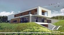 Rezydencja w stylu nowoczesnym na stoku z wewnętrznym patio, basenem i domem ...