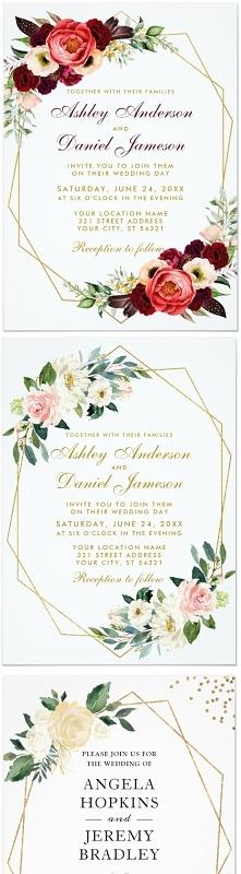 Geometryczne propozycje zaproszeń