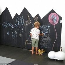 pomysłowa ściana do rysowania